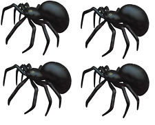 4 x GIANT SPIDERS 91cm INFLATABLE HALLOWEEN PARTY PROP SCARY DECORATION V99 199