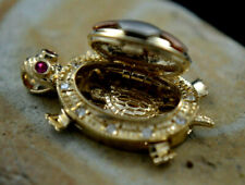 4.6g Final Sale  GOLD Good luck Ring turtle 14k Tri  4g Size 7 Only