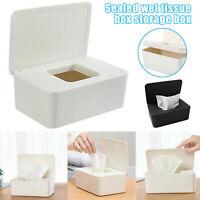 Tissue Storage Box Paper Plastic Case Holder Organizer Dispenser Napkin Home Car