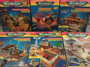 Micro Machines, Galoob, 6x Highways And Byways Sets, Good Condition, Boxed