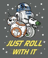 Star Wars Fabric Panel | 100% Cotton | Just Roll With It | 1 Day Processing!|