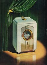 1947 BENDIX AUTOMATIC HOME WASHER VINTAGE ORIGINAL LAMINATED AD ART