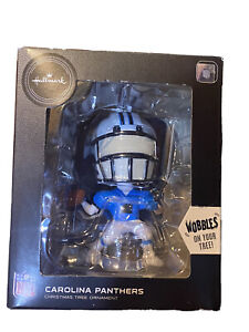 Hallmark NFL Carolina Panthers 2020 Bobblehead Christmas Ornament Wobbles