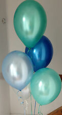 30 Under The Sea Range Pearlised Latex Balloons with Curling Ribbon