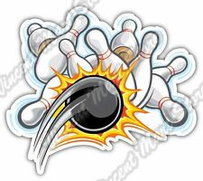 "Bowling Pin Ball Pins Strike Cartoon Car Bumper Vinyl Sticker Decal 5""X4"""