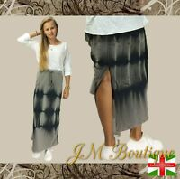 New ladies SKIRT Modern Cotton Casual long women dress Tie Dye size 8-14