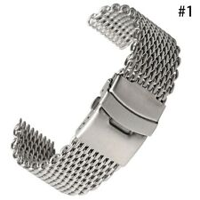 Shark Mesh Stainless Steel Watch Band Strap fits Breitlin Thick & Heavy 20~24mm