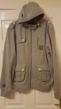 Mens Hooded Jacket - McKenzie Hoodie - Light Grey - Long Sleeves - Size XL