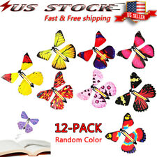 12pcs Card Magic Flying Plastic Butterfly Surprise Birthday Christmas Us seller
