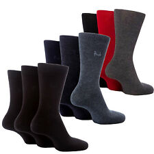 Men's Genuine 3 Pack Pringle Plain Pattern Trouser Black Navy Socks Size 7-11