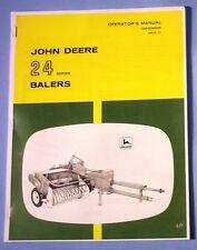 John Deere 24 Series Hay Baler Operators Manual 24T 24Ws Book Knotters info