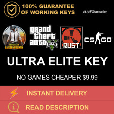 CHEAPEST STEAM ULTRA ELITE RANDOM KEY UP TO $79.99 (PUBG CSGO GTA V RUST) + GIFT