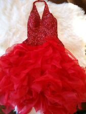 Jovani Red embellished stunning Evening Dress Authentic Gown Size 4