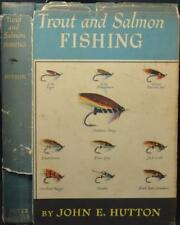 TROUT & SALMON FISHING Hutton 1959 Fly-fishing Britain & America Flies Tackle
