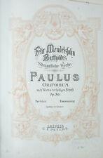 Felix Mendelsohn Bartholdy´s Sämmtliche Werke Paulus Oratorium Notenbuch B-16889