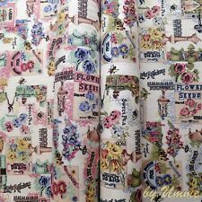 In The Garden 100% Cotton thick Canvas Fabric Ideal for craft, quilting, home