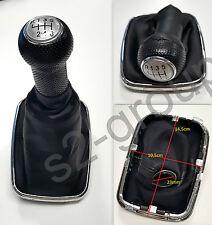 VW GOLF IV BORA POMELLO CAMBIO 6 marce cuffia ecopelle LEVA DEL CAMBIO 23mm