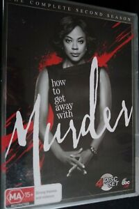 How To Get Away With Murder Season 2 (DVD, 2016, 4-Disc Set) NEW SEALED FREEPOST