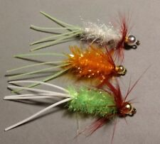 Crappie/Freshwater, Hot Selection Rubber Tails Beadhead, Size 6, Sold per 6