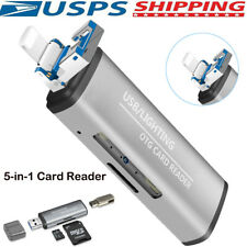 Usb 3.0 Card Reader Otg Dual Slot Memory Card Adapter for iPhone MacBook Laptop