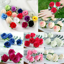 10x Artifical Flower Fake Rose Head Flower DIY Bridal Shower Wedding Party Decor