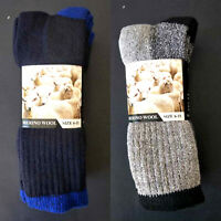 3 Pairs Mens' Thick Winter Warm Woollen Sock Work Socks 90% Wool Size 6-11