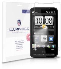 iLLumiShield Phone Screen Protector w Anti-Bubble/Print 3x for HTC HD2 T-Mobile