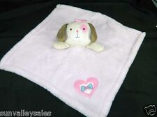 Baby Gear Pink Puppy Dog Security Blanket Lovey Pink Bow & Heart
