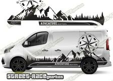 Fiat Talento sides 047 camper van racing stripes graphics ADVENTURE stickers