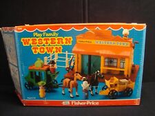 Vintage Fisher Price Little People Play Family Western Town #934 COMPLETE in Box