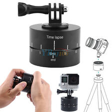 360 Rotating Panning Time Lapse Stabilizer Tripod Adapter +Mount FR Gopro Camera