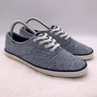 Women's Keds Low Heather Blue Cotton Sz 8.5 Shoes Sneakers Lace WF55599 Casual