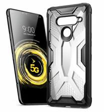 LG V50 ThinQ Rugged Lightweight Case,Poetic Clear Bumper Protective Cover Black