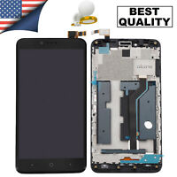 For ZTE ZMax Pro Z981 LCD Display Touch Screen Replacement Digitizer + Frame US