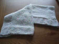 Handmade:A Lovely Handknitted Pastel RAINBOW Acrylic Baby Blanket-crib etc