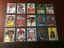 Vintage 1970'S & 80'S Montreal Canadiens Topps & OPC Lot Stars & Hall of Famers