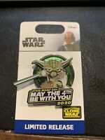 YODA MAY THE 4TH BE WITH YOU 2020 DISNEY STAR WARS DAY PIN LIMITED RELEASE