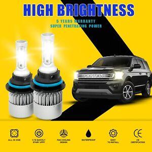 9004 HB1 LED Headlight Kit 2300W 345000LM 3-Sided Light Bulbs White 6000K HID
