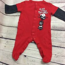 Circo Red One Piece Long Sleeve Footed Outfit Size 6 Months