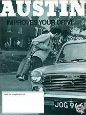 Austin 1967-68 UK Market Foldout Sales Brochure Mini 1100 1300 A60 1800 A110