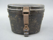 Original German WWII Bakelite 6x30 Binocular Case With Leather Straps Damaged