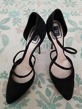 Christian Dior Black Python Suede Pointed Toe Pumps Heels Size 39.5 EUC