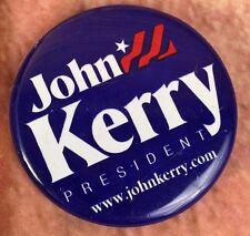 2004 John Kerry For President Political Pinback Campaign Button Memorabilia