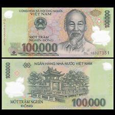 Vietnam Viet Nam 100000 100,000 Dong, Polymer, 2016, P-NEW 122, UNC