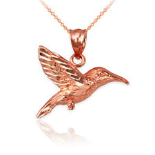 10K Rose Gold Hummingbird DC Charm Necklace