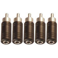 3.5mm Mini Jack Mono Female Socket to Single RCA Phono Male Plug Adaptor x 5