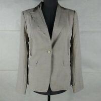 Elie Tahari Georgina Jacket Gray One Button Blazer Womens Size 10
