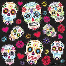 DAY OF THE DEAD wall stickers 20 scrapbook Dia de los Muertos Halloween skulls