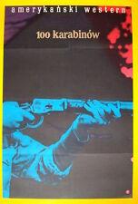100 RIFLES Polish A1 movie poster RAQUEL WELCH JIM BROWN BURT REYNOLDS NM