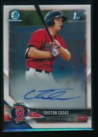 TRISTON CASAS AUTO 2018 1st Bowman Draft Chrome Autograph Red Sox Rookie Card RC